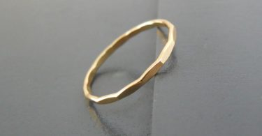 Thin Hammered Gold Filled Ring Skinny Hammered Gold Ring