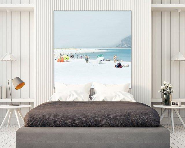Troia. Giant Sea scene Art Print on Canvas, 54 x 54 inches.