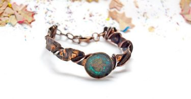 Turquoise statement bracelet Valentines day gift for her