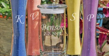 Unity Sand Set / Personalized Wedding Sand Ceremony / Rustic