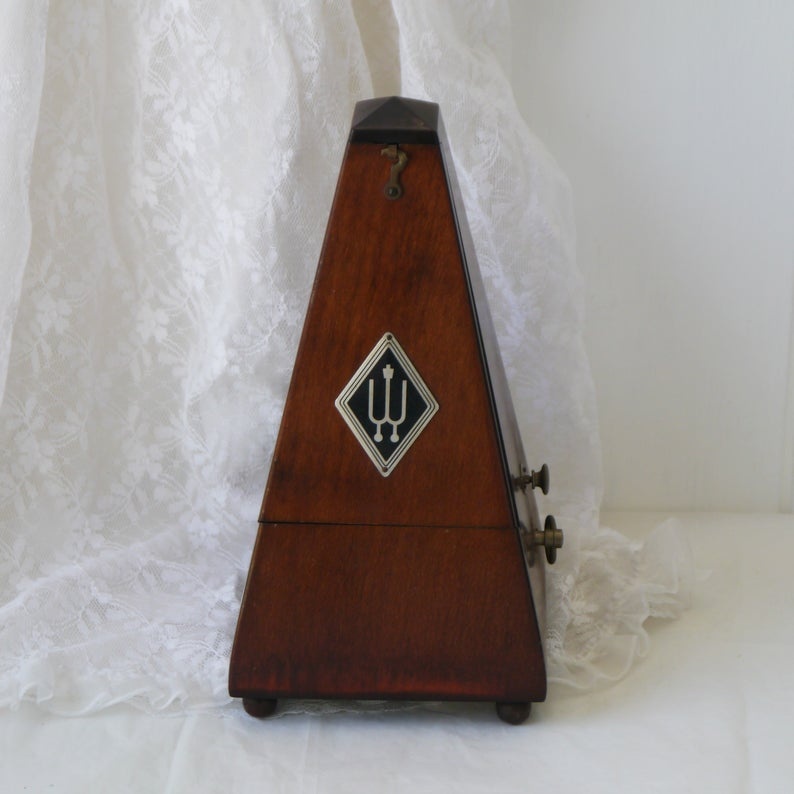 Vintage Wittner Mechanical Wind Up Pyramid Metronome