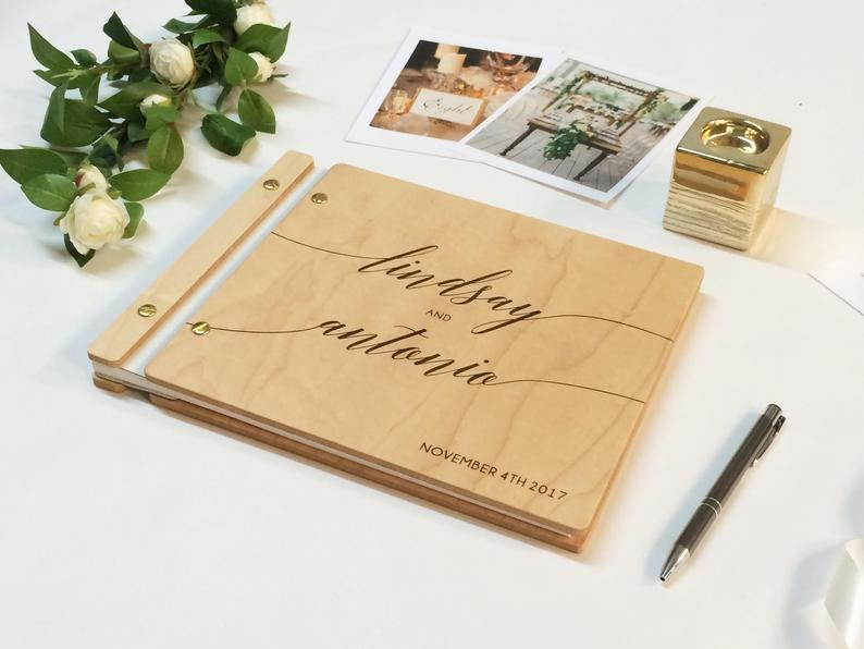 Wedding Guest Book Photobooth Guest Book Gold Wedding