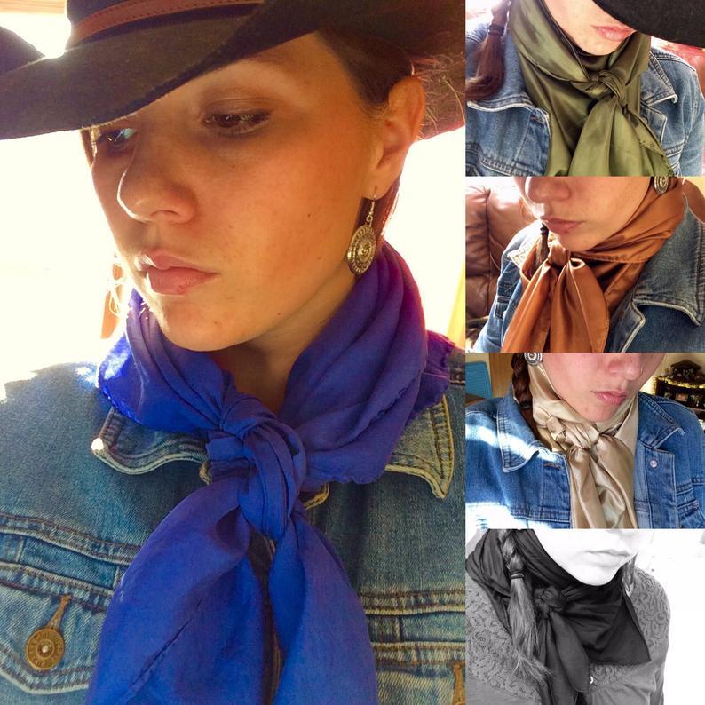 Western Wild Rags/Silk Scarves