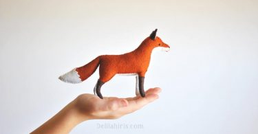 Woodland Felt Fox Pattern   Waldorf Style Felt Animal Pattern