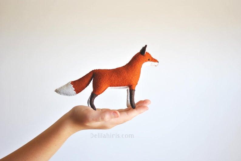 Woodland Felt Fox Pattern   Waldorf Style Felt Animal Pattern