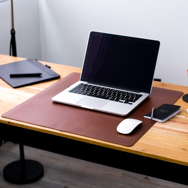 Acorn Leather Desk Pad