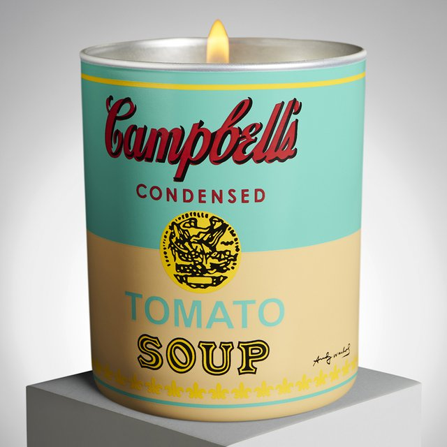 Andy Warhol Yellow/Turquoise Soup Candle