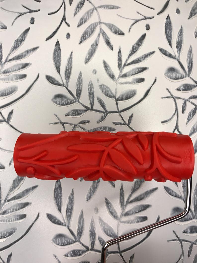 Artsy Leaf Pattern  Decorative Patterned Paint Roller