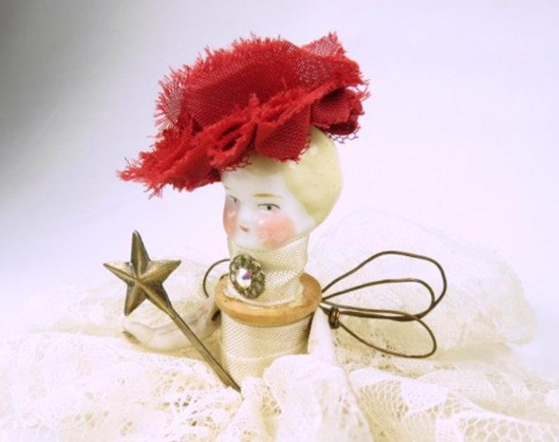 Assemblage Angel Lacy Ivory  Assemblage Art Doll