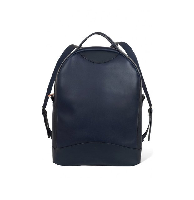 Atelier De L' Armee Voyager Pack Leather Navy Blue