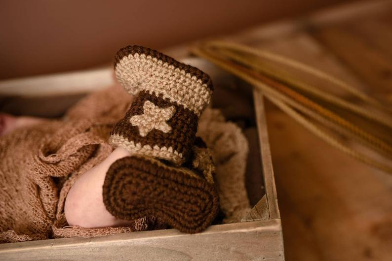 Baby Cowboy Boots  Infant Cowgirl Booties  Newborn Country