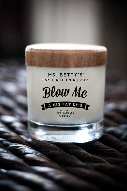 Blow Me, A Big Fat Kiss Scented Candle