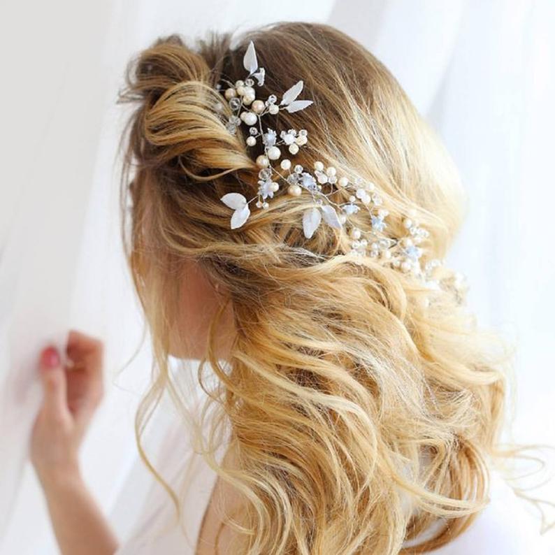 Bridal hair vine wedding jewelry