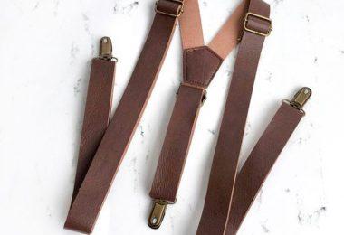 Brown Leather Suspenders Suspenders leather suspenders