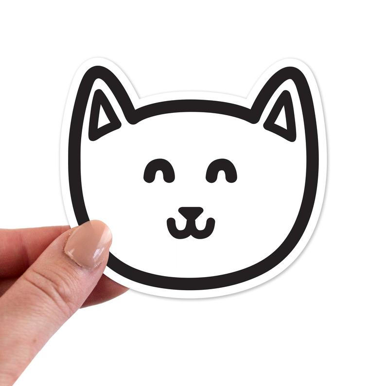 Cat Stickers Cat Sticker Cat Laptop Sticker Cat Laptop
