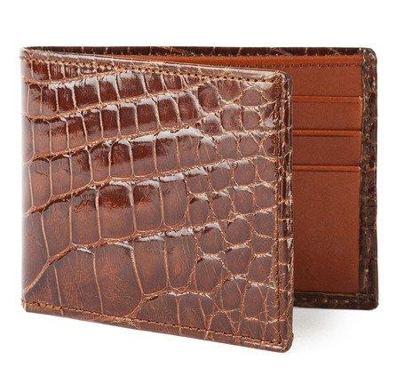 Cognac Alligator Bifold Wallet | SIR JACK'S