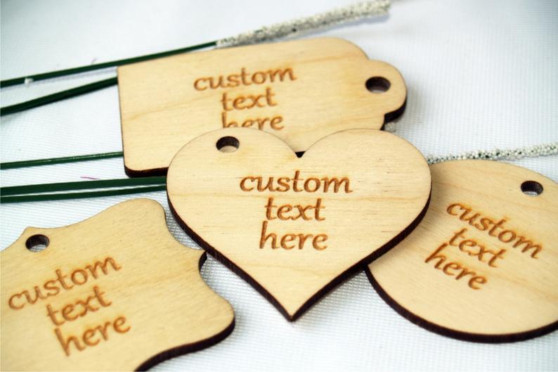 Custom wood tags custom tags custom thank you tags