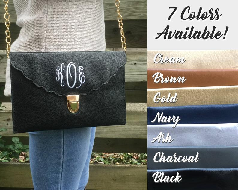 ENVELOPE CLUTCH BAG  Christmas Gift  Personalized Clutch