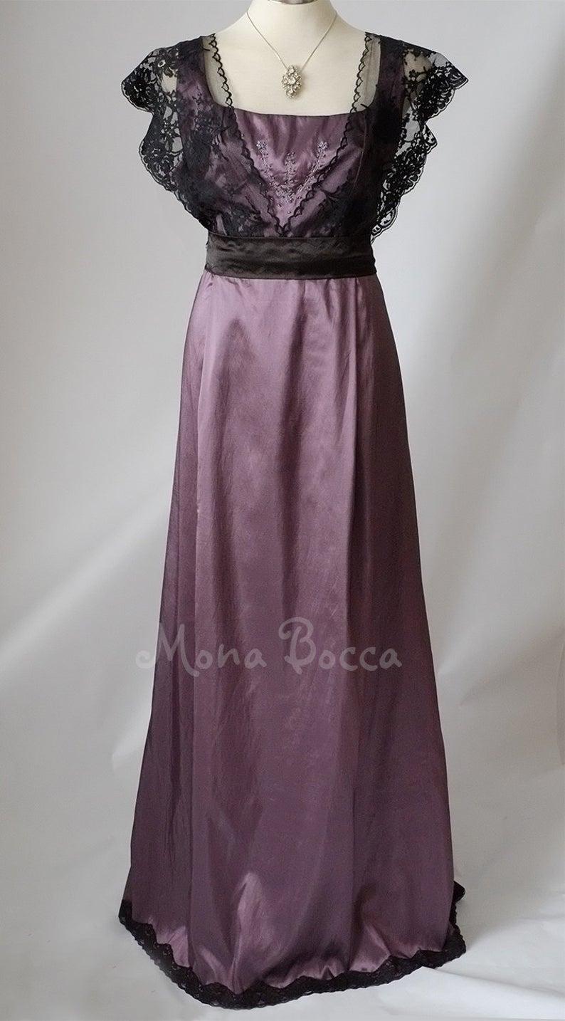 Edwardian dress Downton Abbey Purple amethyst dress Edwardian