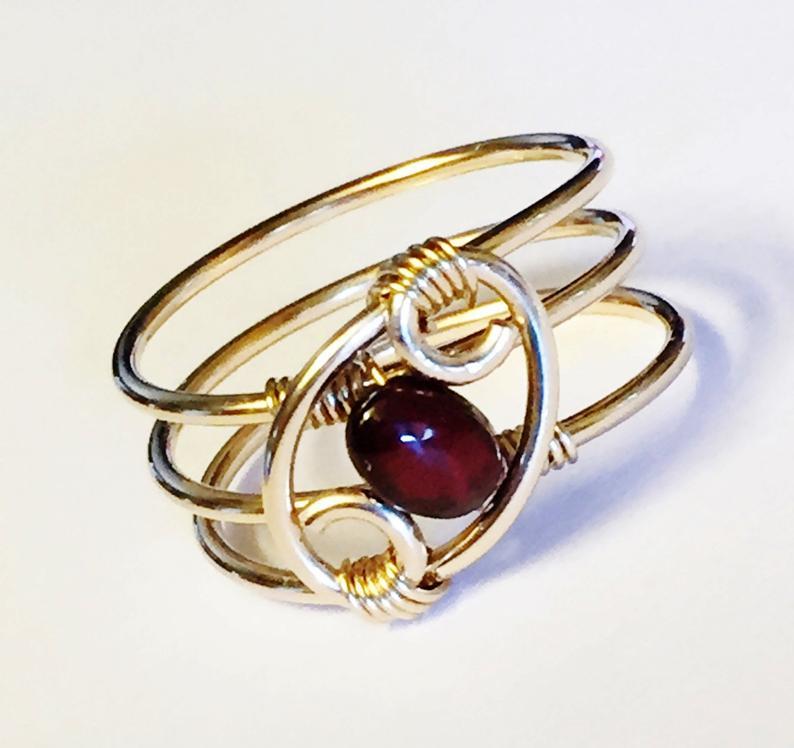 Garnet Ring Garnet Jewelry January Birthstone January