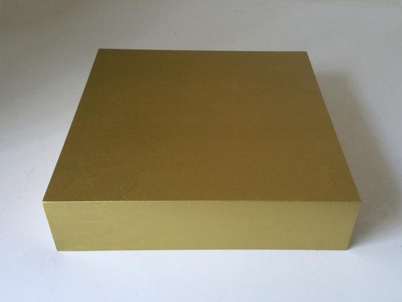 Gold Display Riser 12 x 12 x 3 Plinth Display Flower