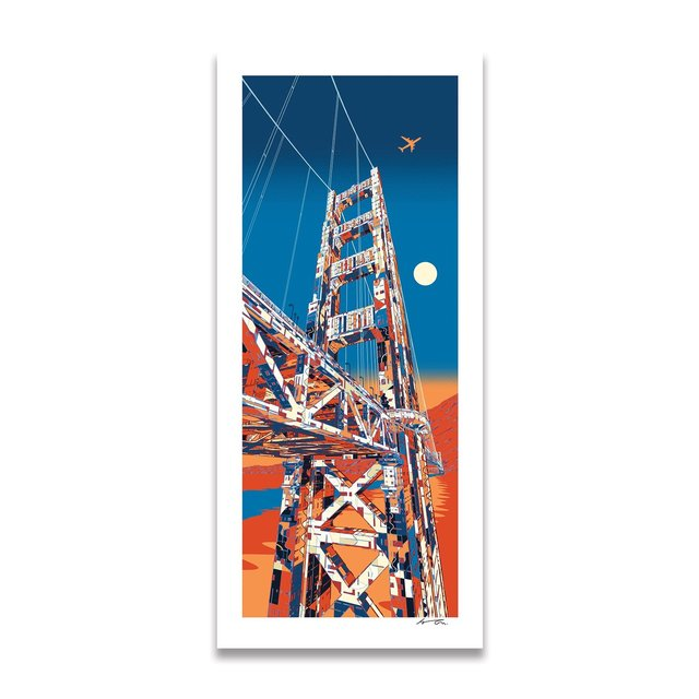 Golden Gate , Giant Art x Eyes on Walls – Limited Edition Print by HR-FM