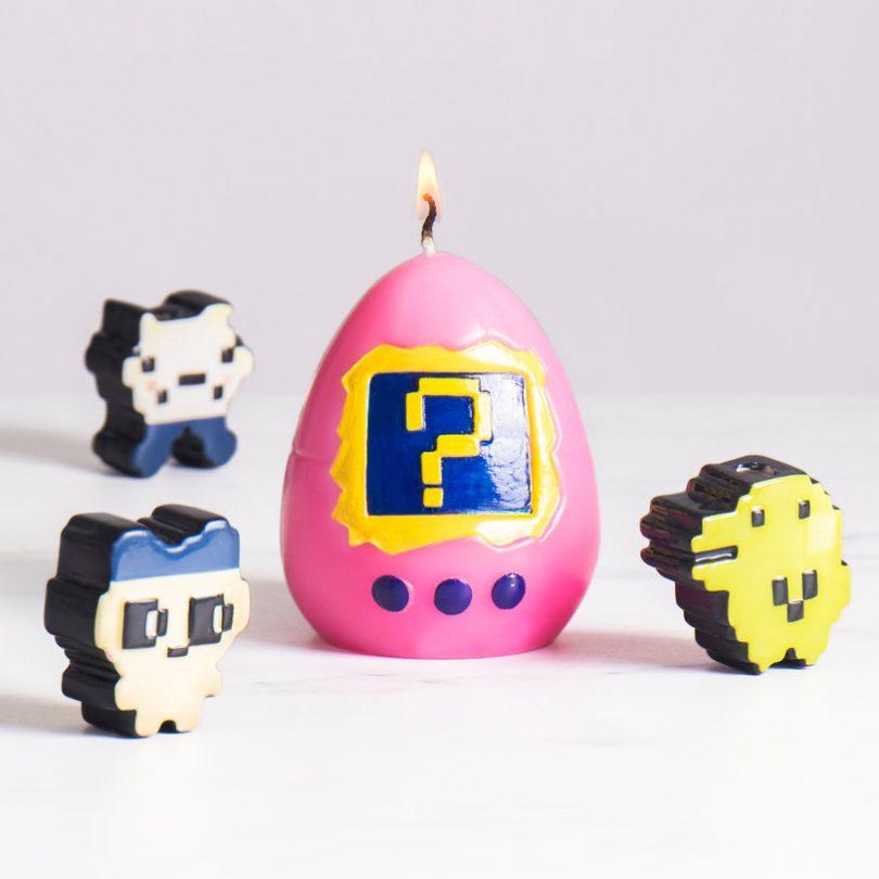 Hatching Virtual Pet Candle