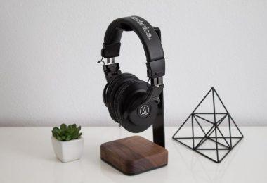 Headphone Stand Wood  Steel and Wood Headphone Holder Makes