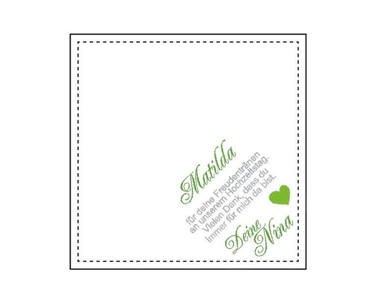 Hochzeitst?chlein…Besticktes Taschentuch