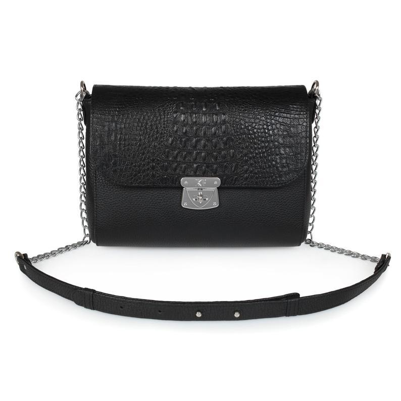 Leather Cross body Bag Black Leather Shoulder Bag