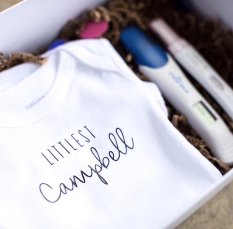 Littlest  Baby Announcement Onesie/Bodysuit/Pregnancy
