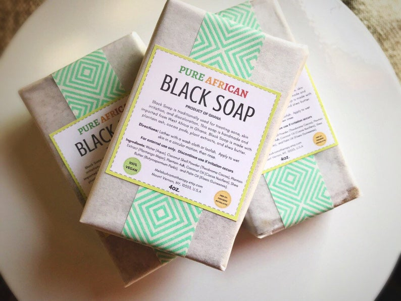 Melaku Aromatherapy African Black Soap 4oz.
