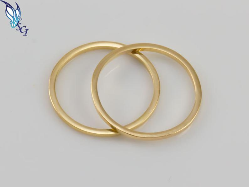 Midi Rings Gold Plated Over Sterling Set of 2 or Set of 5