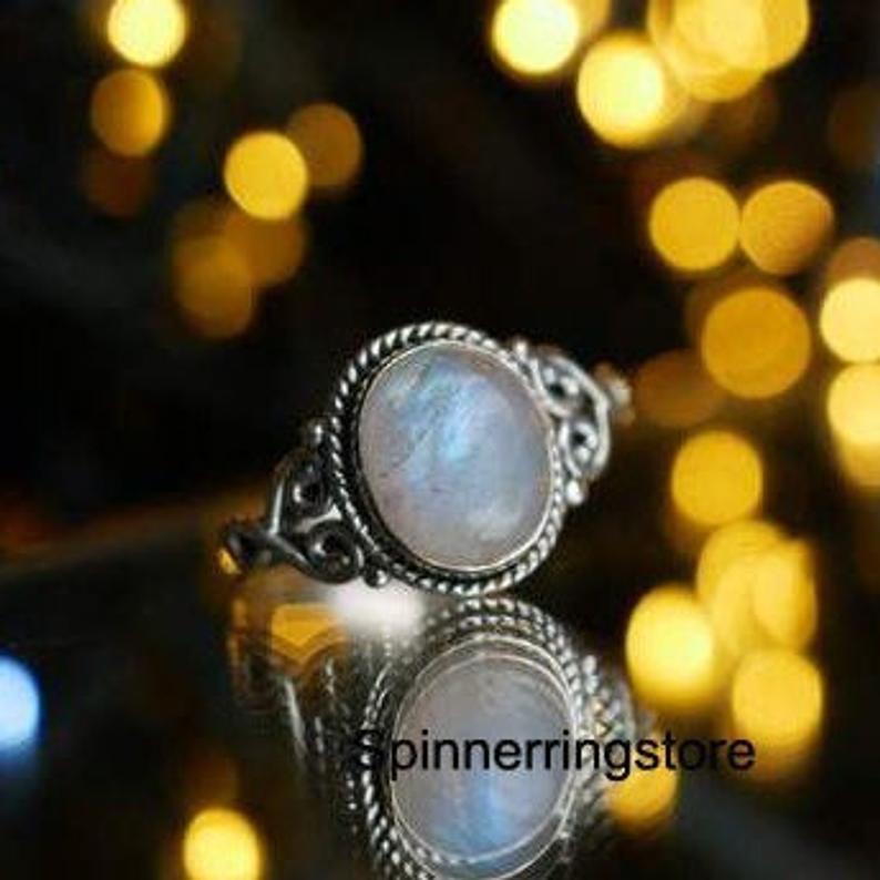 Moonstone Ring Gemstone Ring Handmade Ring Statement Ring
