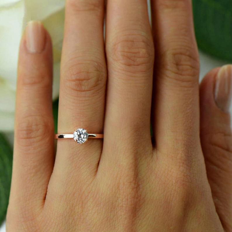 More sizes 1/2 ct Promise Ring Engagement Ring Round