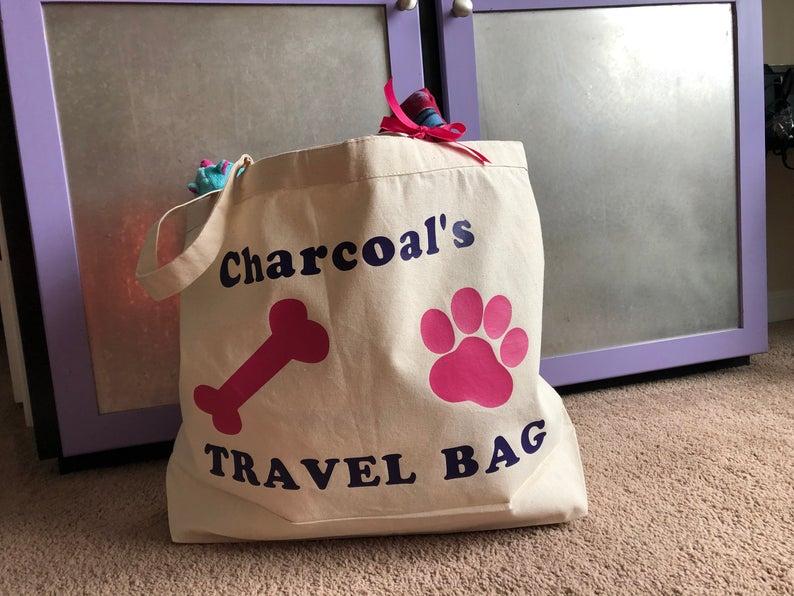 Overnight Bag/Pet/Dog/Cat/Personalized/Travel