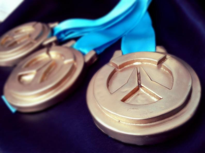 Overwatch Inspired Resin Cast Medals