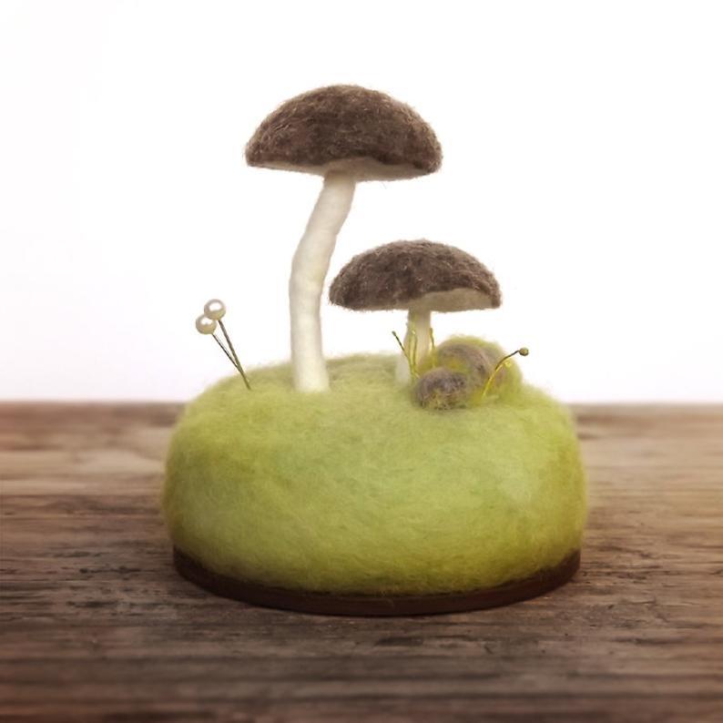 Pincushion Pin Cushion Mushrooms Nature Lovers Gift Sewing