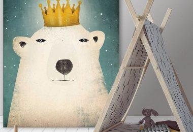 Polar King Giant Canvas Print