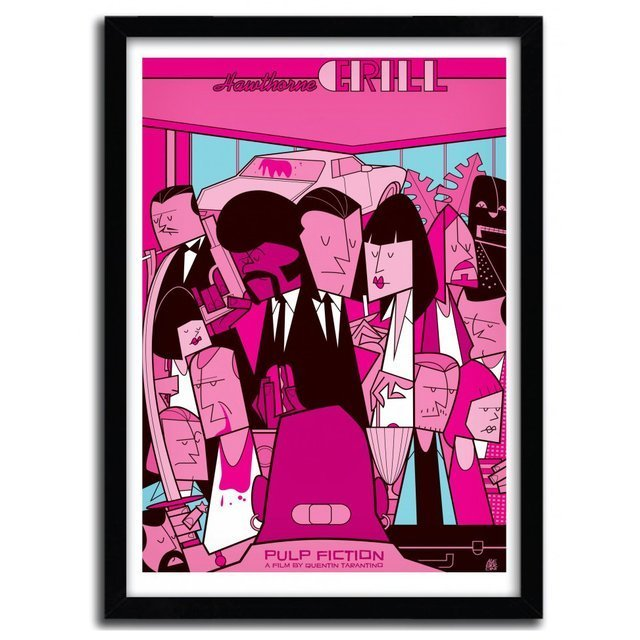 Pulp Fiction Art Print by Ale Giorgini