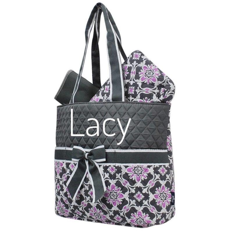 Purple Diaper Bag  Personalized Diaper Bag  Monogram Diaper