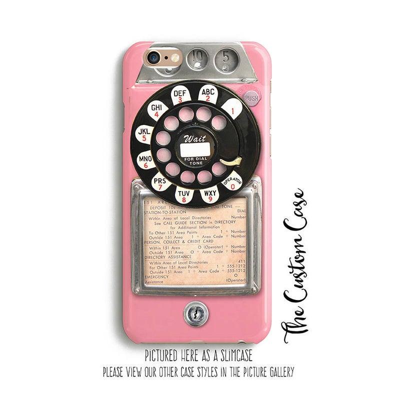 Retro Pink Payphone Vintage Payphone Phone Case Retro Pink