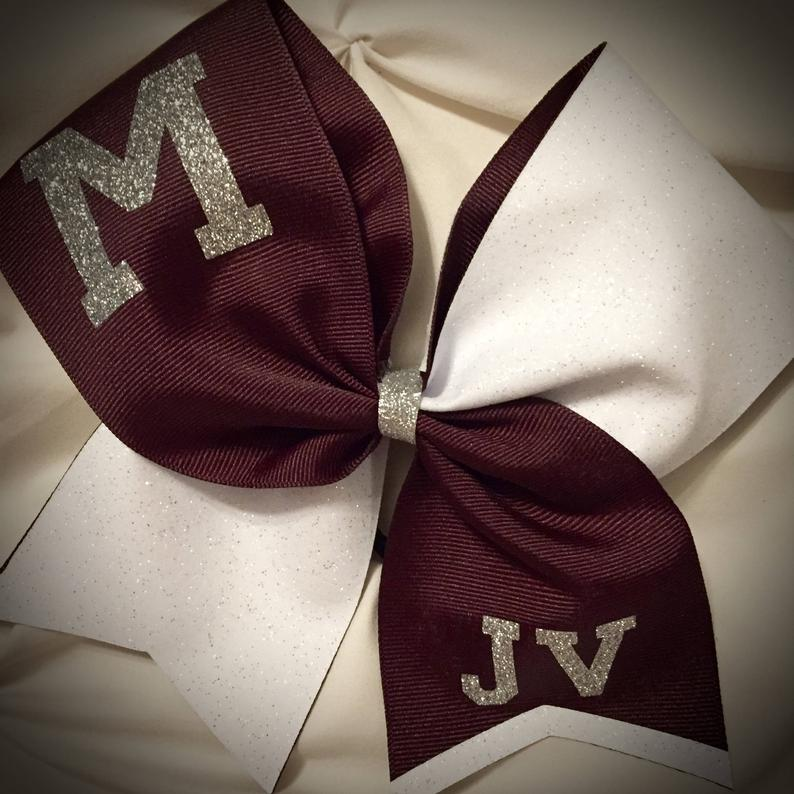 SQUAD or TEAM Cheer Bow GLITTER BowSquad discounts Cheer Bow