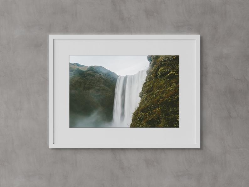 Sk?gafoss Waterfall Iceland Wall Art Fine Art Prints