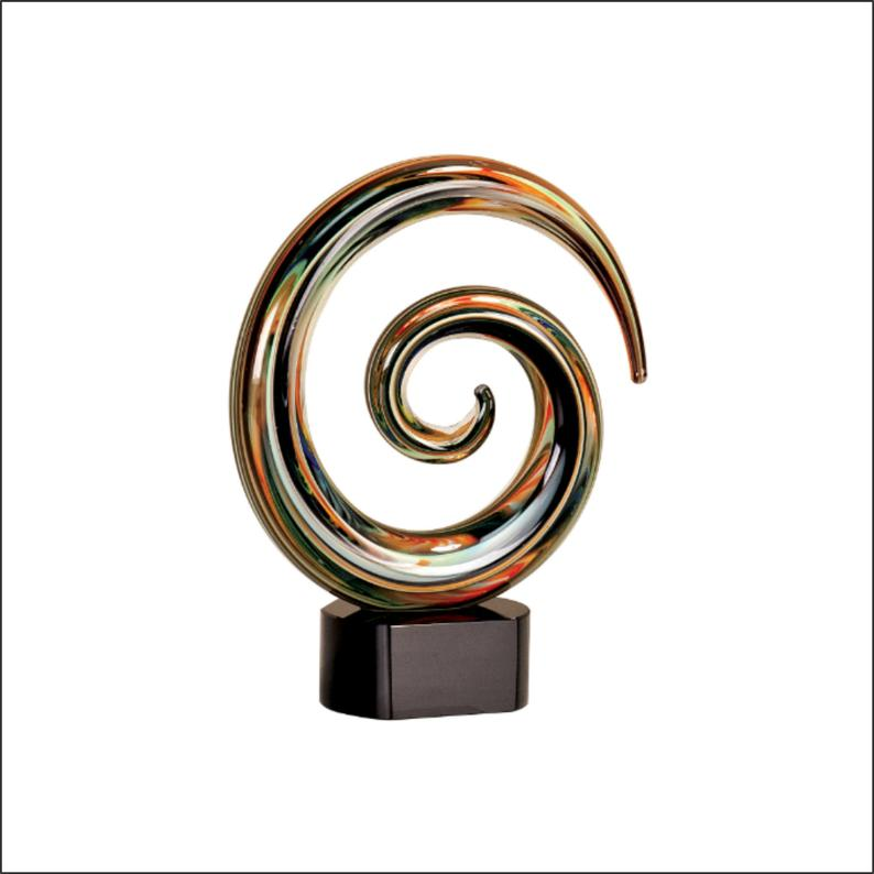 Swirl art glass hand blown glass swirl blown glass