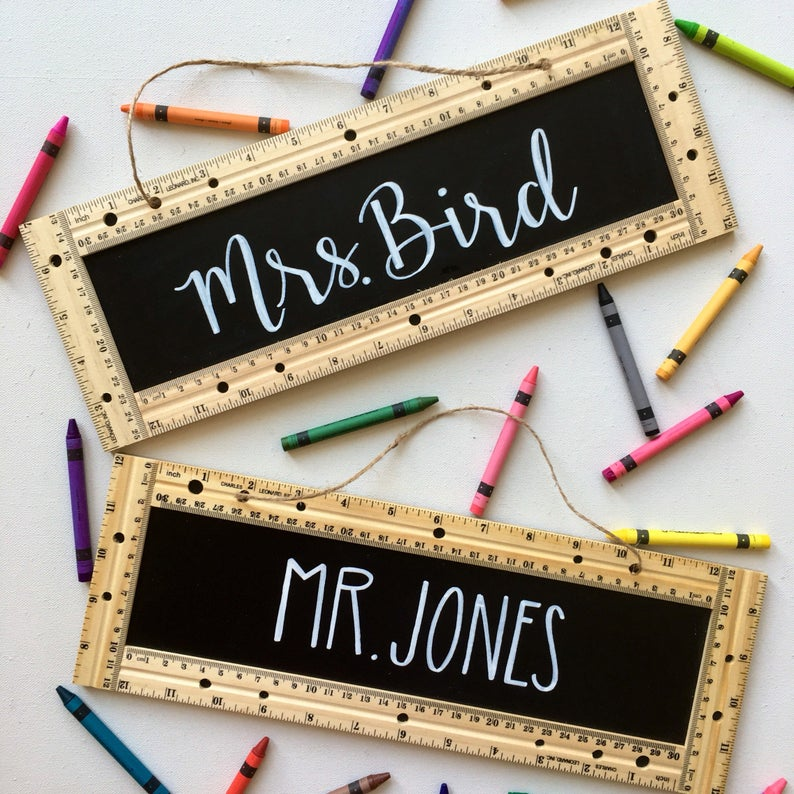 Teacher Sign  Personalized  Classroom  Education  Gift