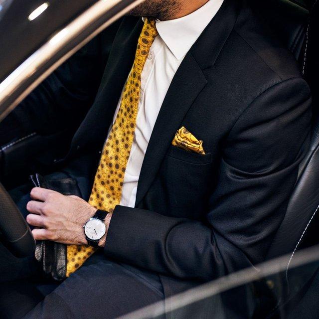 The Dark Yellow World Beater Tie