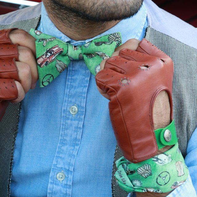 The Green Gentleman Driver Bow Tie