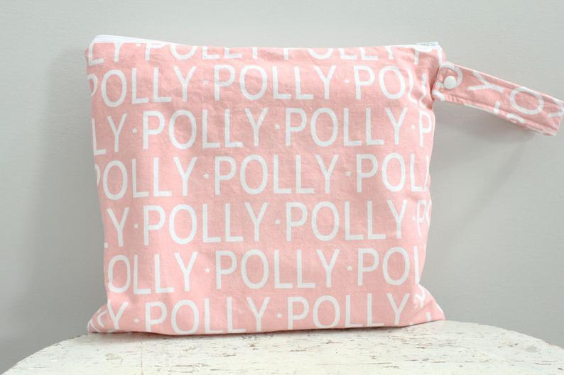 The ICKY Bag  wetbag  PETUNIAS by Kelly  personalized