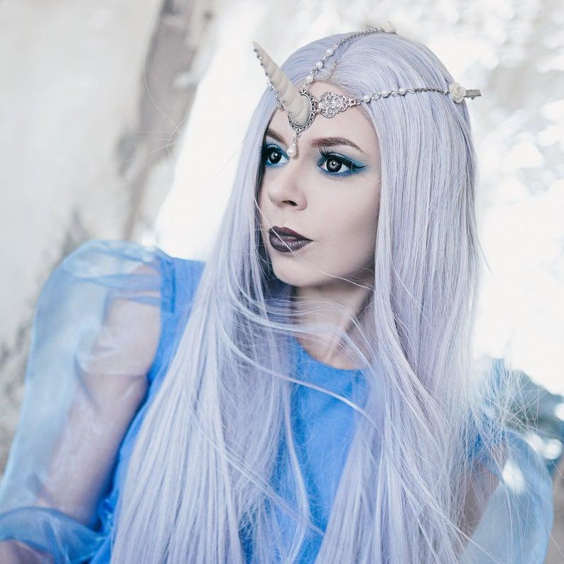Unicorn Horn Headpiece Headdress Circlet Fantasy Pegasus